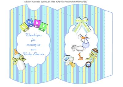 Thank You For Coming To Our Baby Shower (boy) Pillow Box   CUP436473_601    Craftsuprint