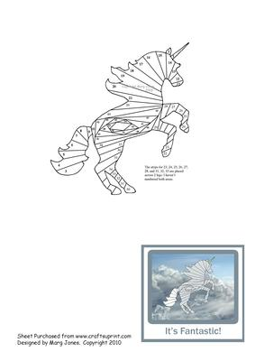 Unicorn Iris Folding Pattern Cup52871 601 Craftsuprint