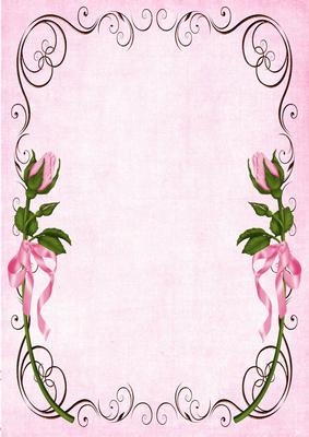 A4 Background Vintage Roses And Swirls