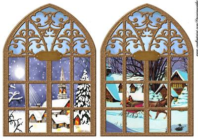 Church Windows Vintage Christmas Backgrounds Cup447357