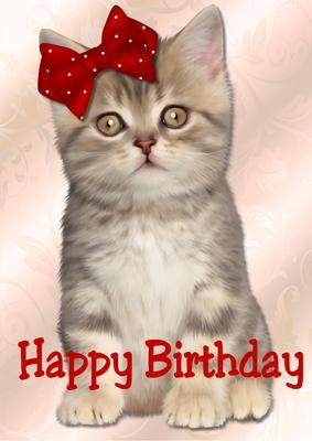 Card Creator - Cute Kitten Happy Birthday - CUP572670_936