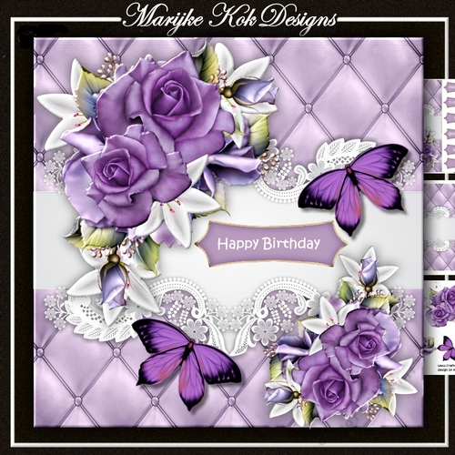 Purple Roses Butterflies Mini Kit Cup891530936 Craftsuprint