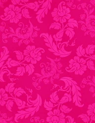 neon hot pink elegant floral a4 size digital paper