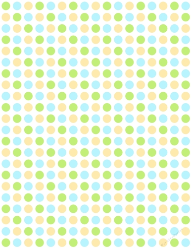 Yellow Green Blue Polka Dot Pattern On White A4 Size Digital Paper Background Cup735736 70864 Craftsuprint