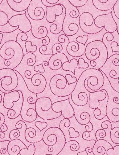 pink glitter heart design on a4 size digital paper pink
