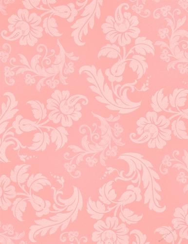 Light Pink Elegant Floral Pattern A4 Size Digital Paper Background