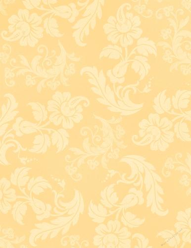 Light Golden Elegant Floral Pattern A4 Size Digital Paper
