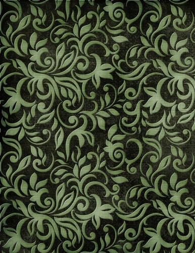 Green Floral Vine Pattern On Dark Green A4 Background Paper Cc1 Cup753183 70864 Craftsuprint