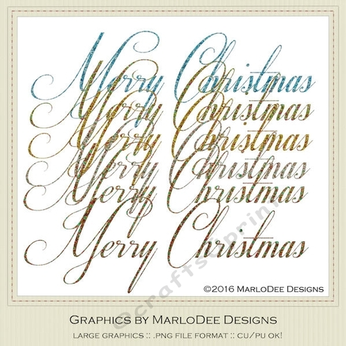 Merry Christmas Word Art Png.Beautiful Script Merry Christmas Word Art Graphics Pkg 2