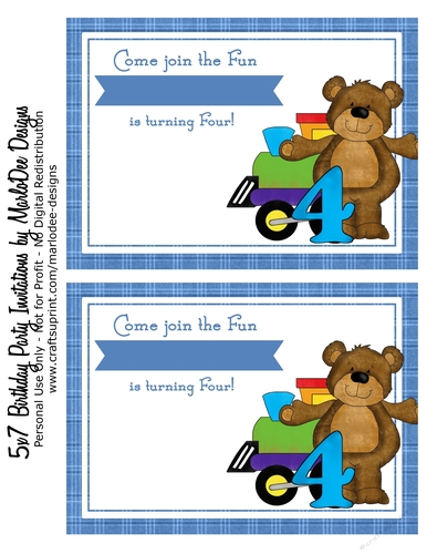 Fourth Birthday Invitation