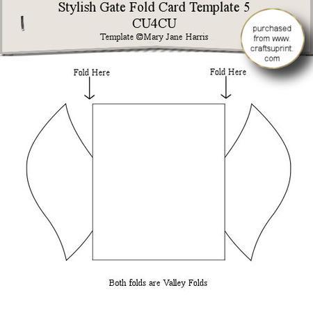 Stylish Gate Fold Card Template 5 - CUP289342_99   Craftsuprint