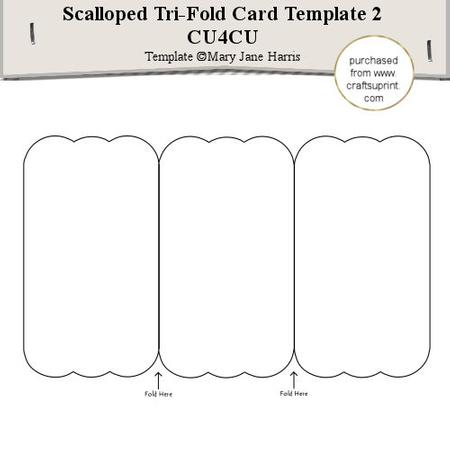 Scalloped Trifold Card Template 2 Cu4cu CUP29157199 Craftsuprint
