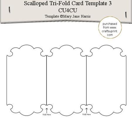scalloped tri fold card template 3 cu4cu cup291572 99. Black Bedroom Furniture Sets. Home Design Ideas