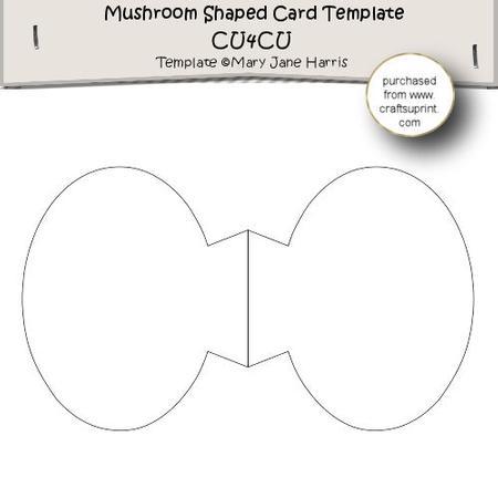 mushroom shaped card template cu4cu cup300241 99 craftsuprint