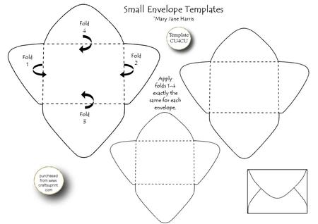 3 Small Envelope Templates   Cu4cu   CUP327120_99 | Craftsuprint