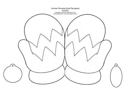 large coloring pages for mittens | Winter Mittens Card Template - Cu4cu - CUP354914_99 ...