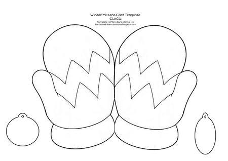 Winter Mittens Card Template - Cu4cu - CUP354914_99 | Craftsuprint