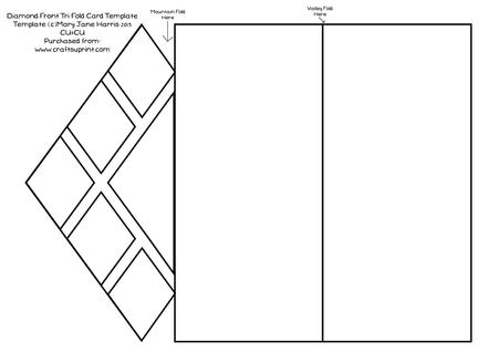 tri fold tent card template - diamond front tri fold card template cu4cu cup429270