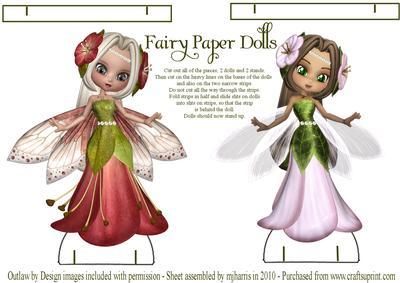 fairy paper dolls stands cup45009 99 craftsuprint. Black Bedroom Furniture Sets. Home Design Ideas