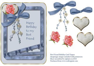 Best Friend Birthday Card Topper