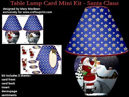 Table Lamp Card Mini Kit Santa Claus Cup542254 1648
