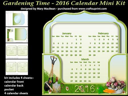 Gardening time 2016 stand up calendar mini kit for Gardening 2016 calendar