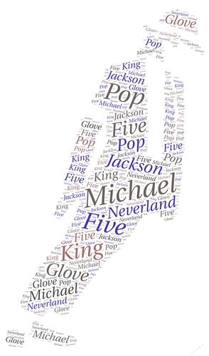 Michael Jackson Dance Pose Word Art