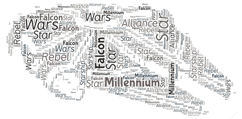 Star Wars Millennium Falcon Word Art