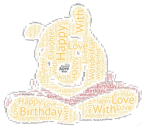 winnie the pooh happy birthday wonderful daughter word art