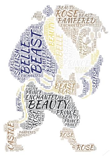 Beauty And The Beast Word Art