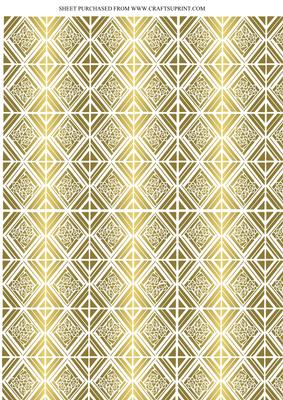 Art Deco Gold Tile Effect Backing Paper Cup142539 617