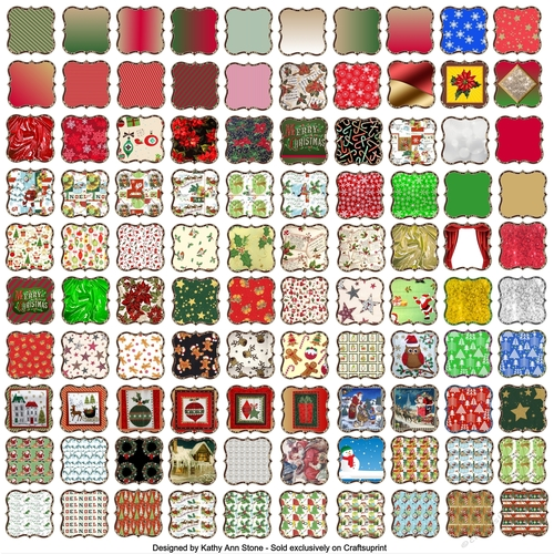 Christmas Toppers For Card Making.108 X Christmas 2 Inch Wallpaper Panels Shaped Toppers Background Card Making Scrapbooking 9 Sheets