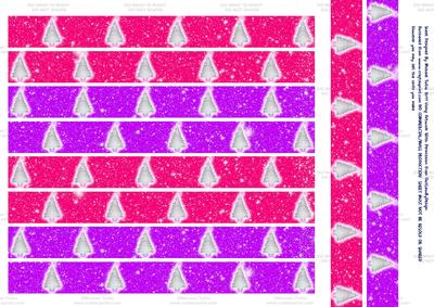 Pink & Purple Xmas Tree Paper Chains - CUP281228_698 | Craftsuprint