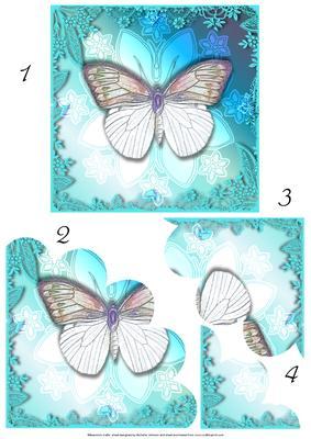 Blue flowers - CUP845961_8 | Craftsuprint