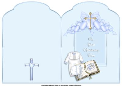 Boys Christening Scalloped Top Quick Card Cup241945 376 Craftsuprint