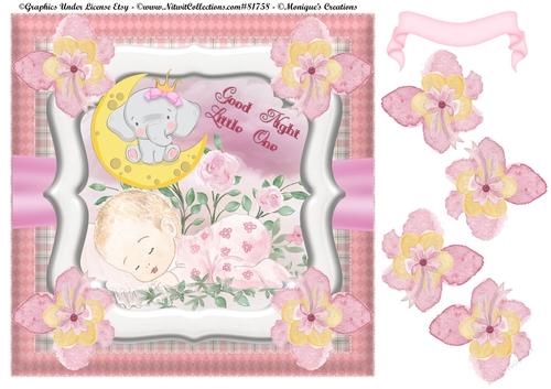 8 X 8 Good Night Baby Girl Cup9409352246 Craftsuprint