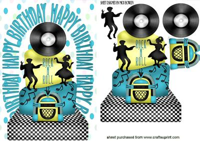 Fine Rock N Roll Birthday Cake In Turq Cup472186 415 Craftsuprint Birthday Cards Printable Opercafe Filternl