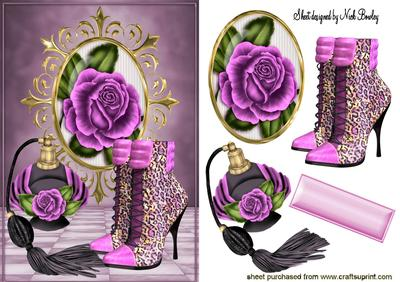Pink Rose with Perfume and Pink Boots  CUP513984_415  Craftsuprint