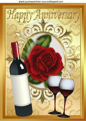 Red Wine Red Rose For An Anniversary A4 Cup522174 415