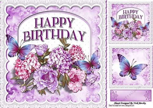 Pretty purple flowers butterflies on a plaque for that special pretty purple flowers butterflies on a plaque for that special person 8x8 mightylinksfo