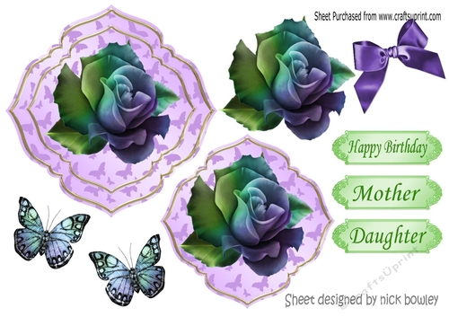 Butterfly Background With Rainbow Purple Rose And Butterflies