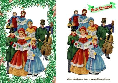 Christmas Victorian Carol Singers Cup90754 415 Craftsuprint