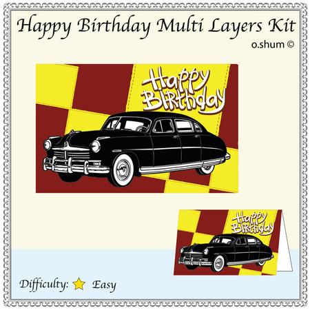 Happy Birthday Classic Car Cup324031 867 Craftsuprint
