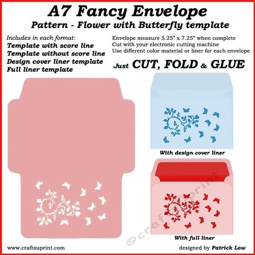 a7 fancy envelope - pattern