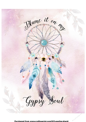 Gypsy Soul Dreamcatcher Quote