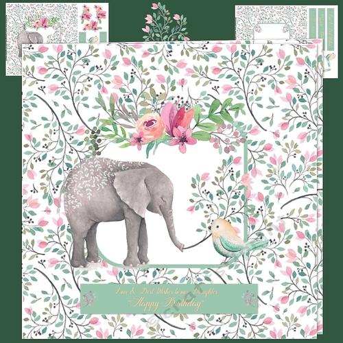 4 x Watercolour WILDLIFE SET Card Toppers /& Sentiments NEW---BUMPER SET---