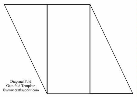 Diagonal Gate Fold Template - CUP18635_1 | Craftsuprint