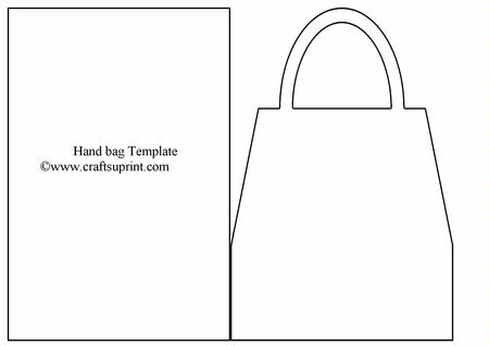 Hand bag card template cup18636 1 craftsuprint for Card making templates free download