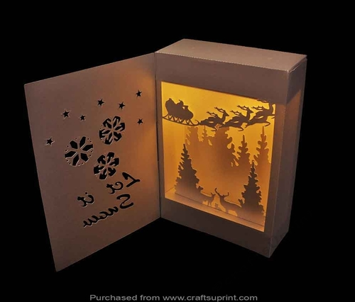 Shadow Box Lantern Let It Snow Cup716991 66824