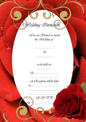 wedding invitation red rose fill in the blanks cup139715 49